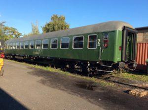 2. Klasse Wagen der Bauart Bm 234 in grüner Ursprungslackierung