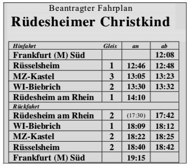 geplanter Fahrplan - HEF Rüdesheim 2020